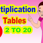 Multiplication Table I Maths Tables From 2 To 20 | Learn Numbers For Kids I  Easy Way To Learn Tables