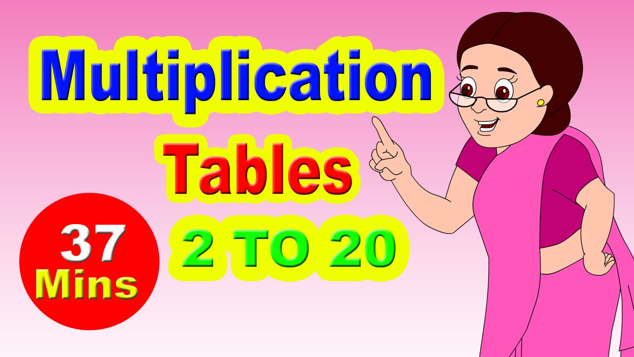Multiplication Table I Maths Tables From 2 To 20   Learn Numbers For Kids I  Easy Way To Learn Tables