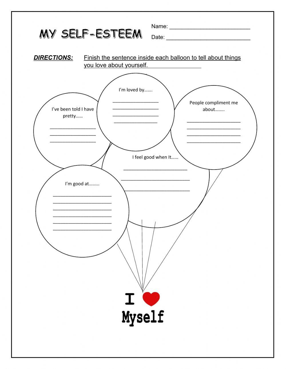 My Self-Esteem Worksheet