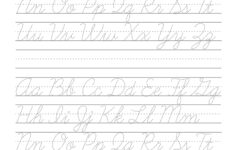 Cursive Alphabet In Capital Letter