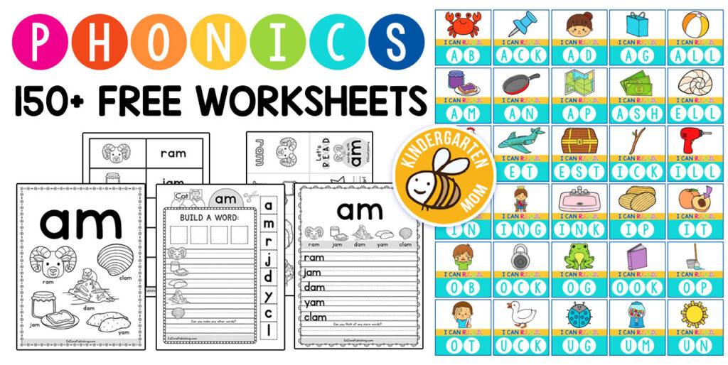 Phonics Worksheets   Kindergarten Mom