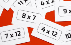 Printable Multiplication Table Cards