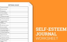 Self-esteem Worksheets Addiction Recovery