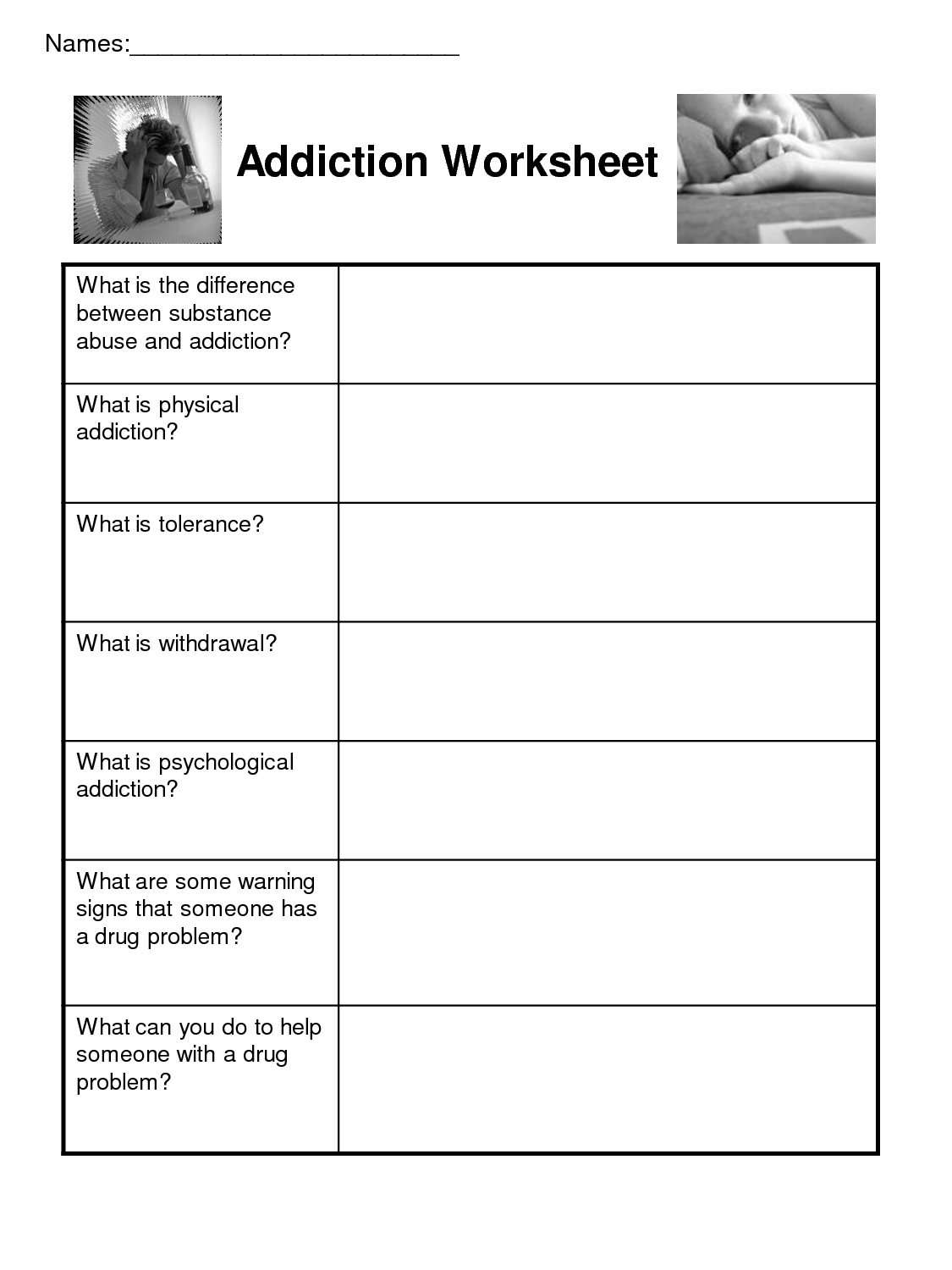 Self Esteem Recovery Worksheets | Printable Worksheets And