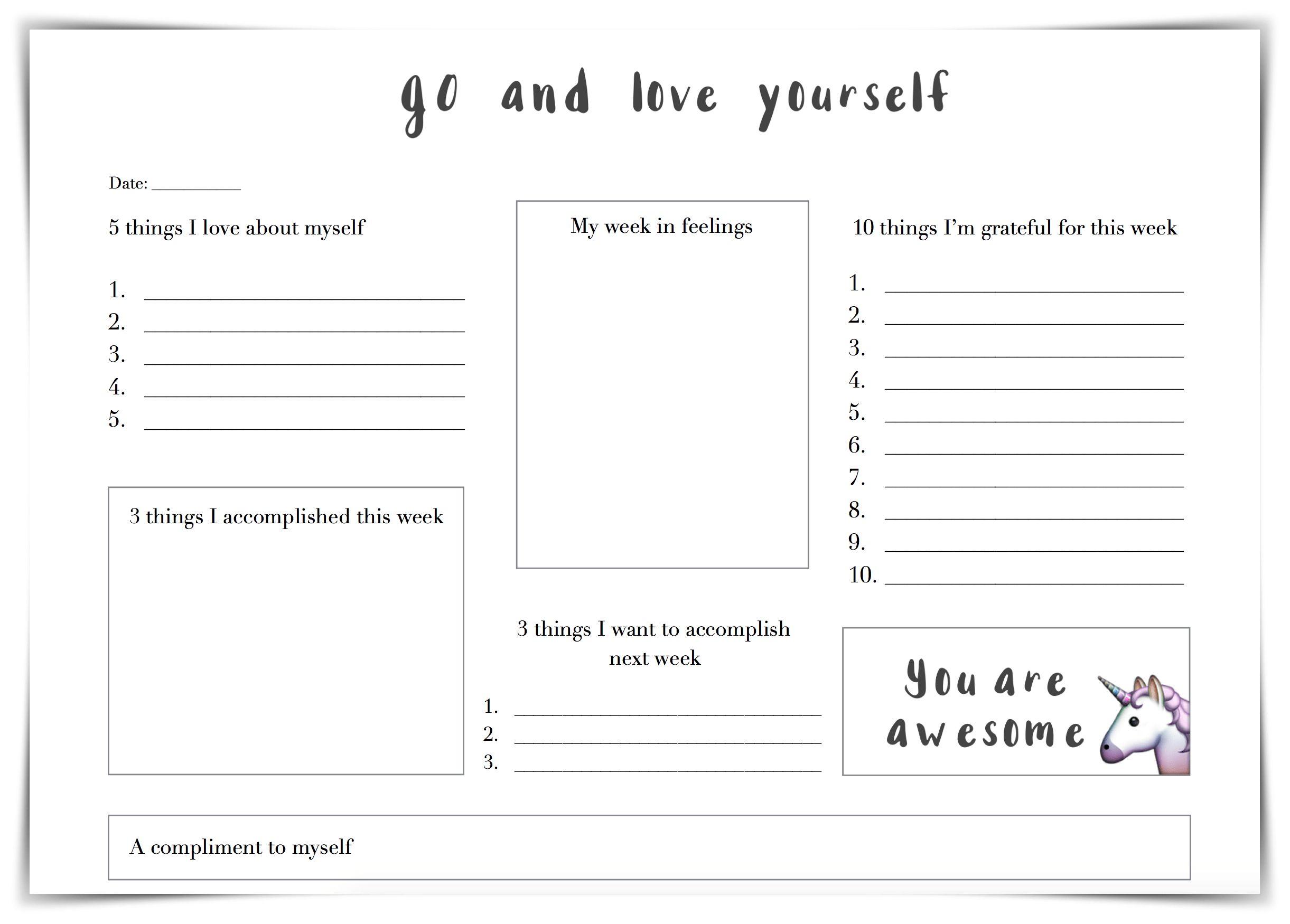 Self Esteem Worksheets - A Self Esteem Worksheets Is A Few