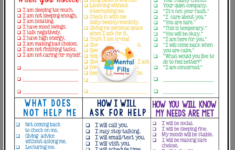 Free Self-esteem Worksheets Fill Your Emotional Cup With Self-care