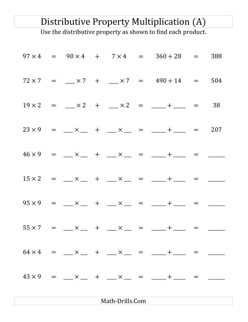 The Multiply 2 Digit1 Digit Numbers Using The