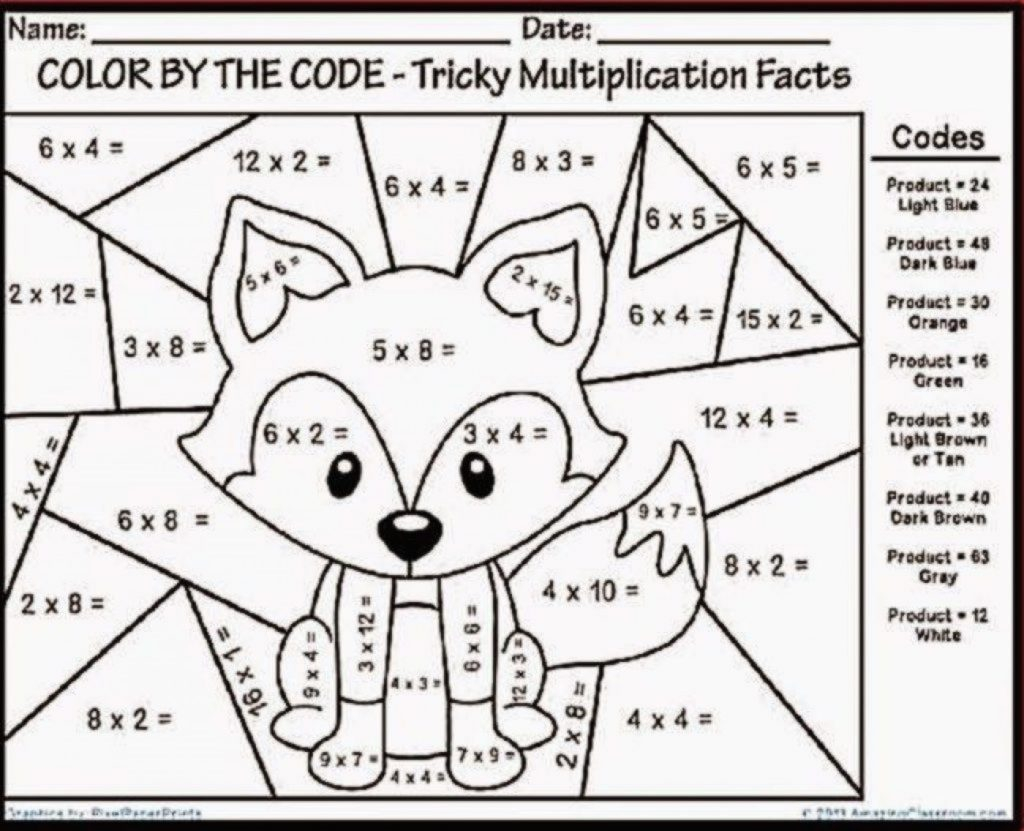 Tremendous Coloring Math Worksheets Middle School Picture