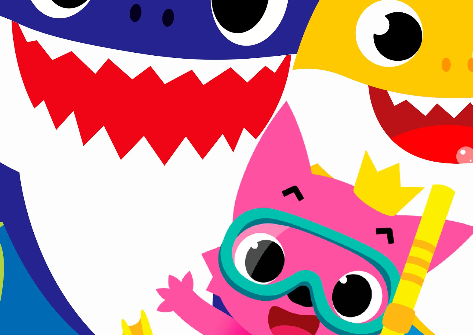Baby Shark Free Printable Party Poster Bacground Oh My