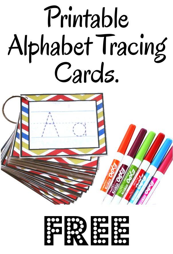 Free Alphabet Tracing Cards Free Homeschool Deals