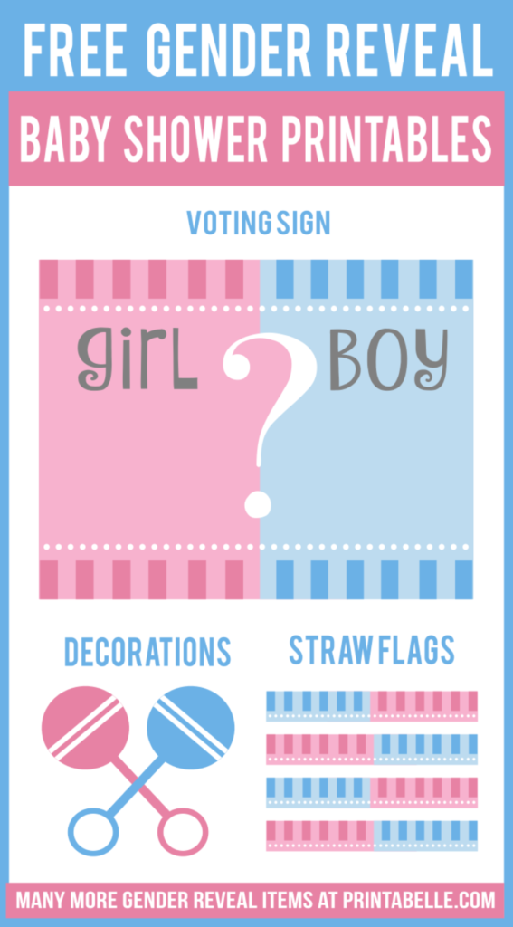 Free Gender Reveal Baby Shower Question Printables Free