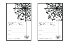 Free Halloween Party Invitation Printable With Glitter For