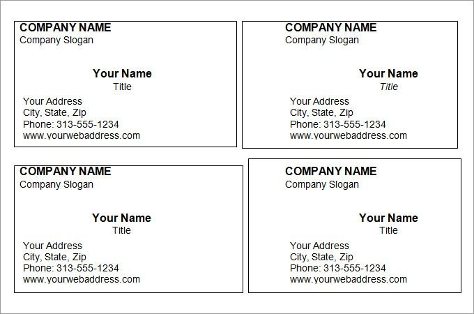 Free Printable Business Card Templates With Images