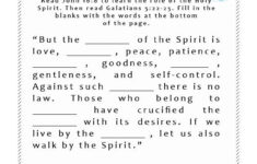 Fruit Of The Spirit Bible Activities For Kids Bible