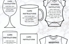 HTV Vinyl Care Instructions Plus A Free Printable Here