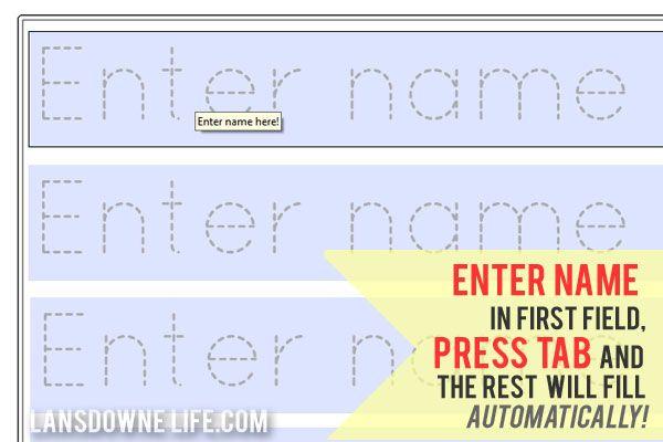 Preschool Handwriting Worksheet FREE Printable Tracing