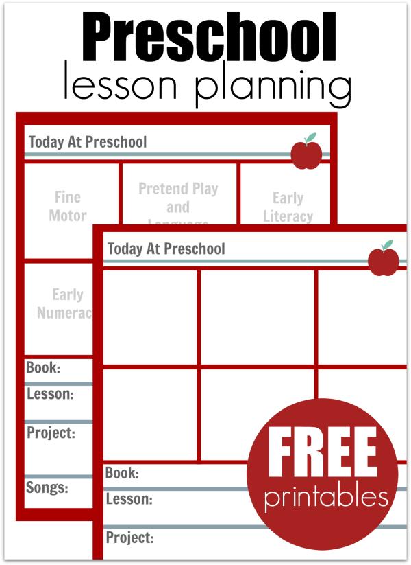 Preschool Lesson Planning Template Free Printables
