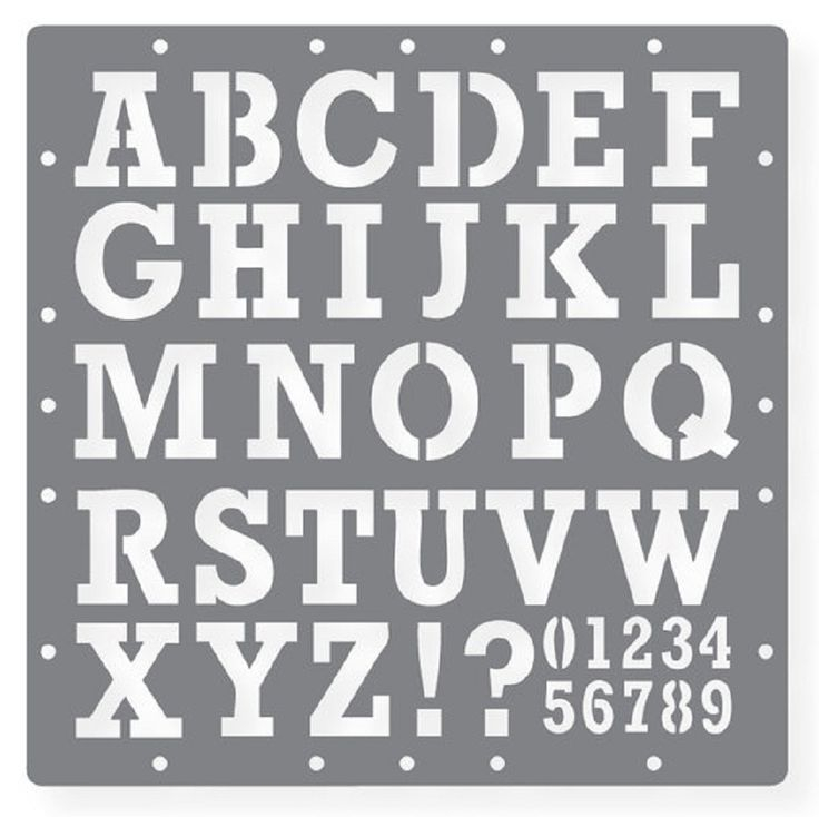 Printable Letters Stencil Of Alphabets Numbers And