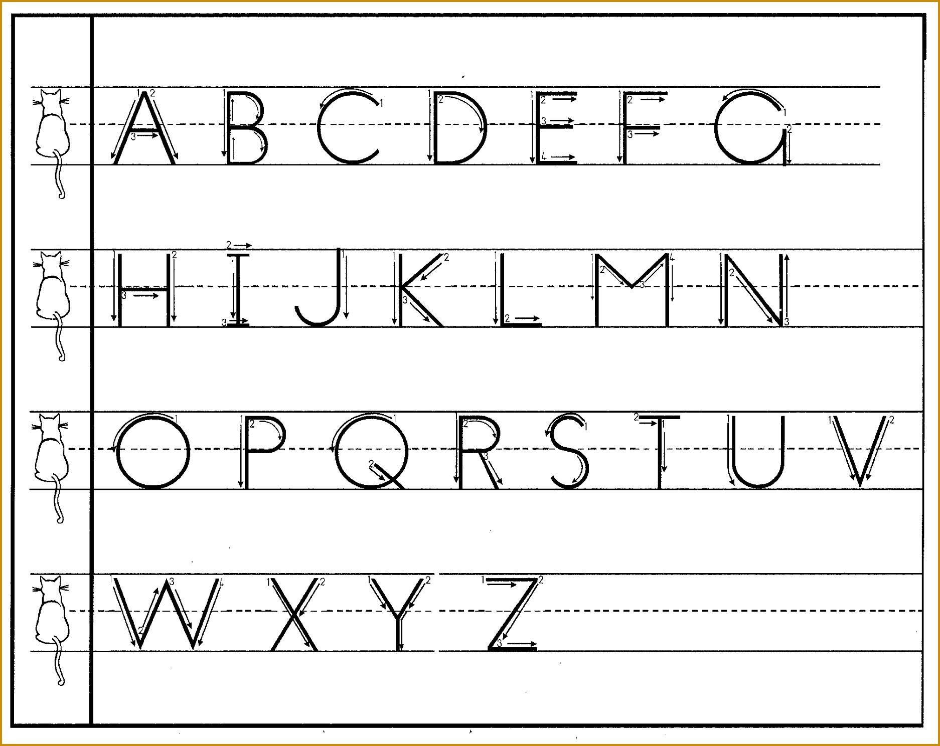4 Cursive Handwriting Worksheets FabTemplatez