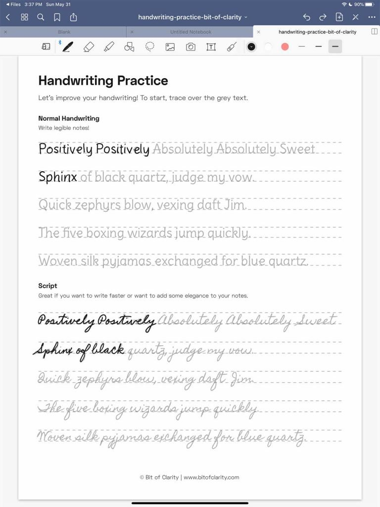7 Easy Ways To Improve Your Handwriting On The IPad Bit