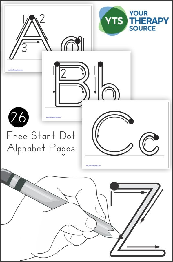 Alphabet Handwriting Practice PDF Freebie With Start Dots