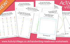 Colourful Handwriting Readiness Worksheets For Practising