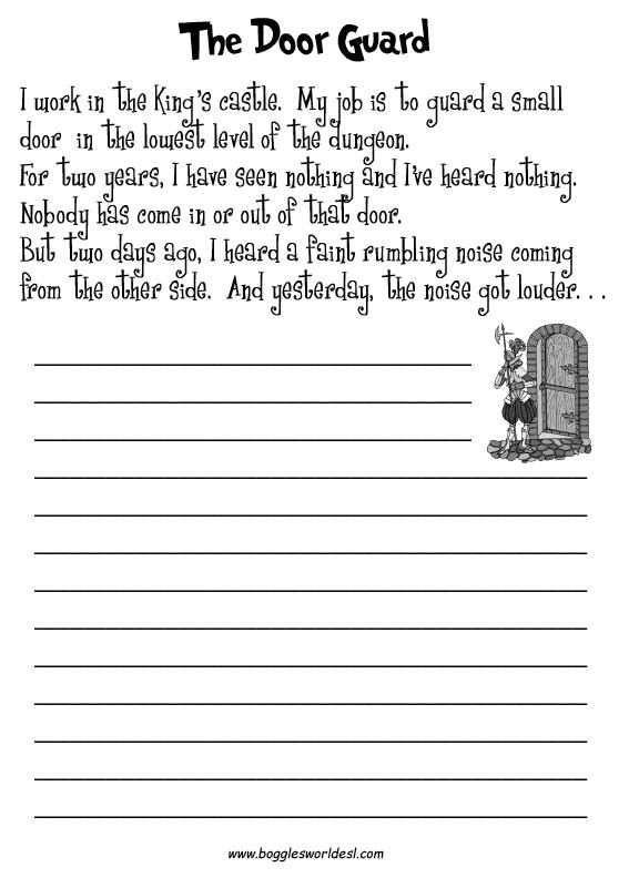 Creative Writing Worksheets For Grade 5 5th Grade