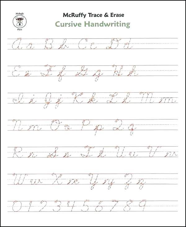 Cursive Handwriting Practise Sheets Uk