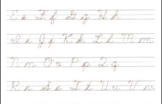 Cursive Handwriting Practise Sheets Uk