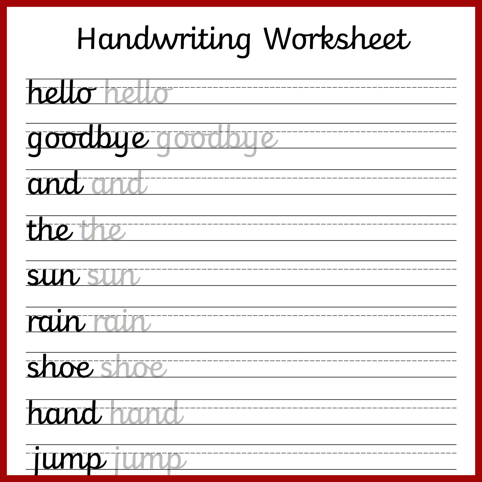 Cursive Handwriting Worksheets Free Printable Mama Geek