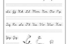 Cursive Writing Worksheet For Ukg Beautiful Cursive