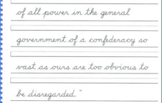 English Cursive Handwriting Worksheets Pdf
