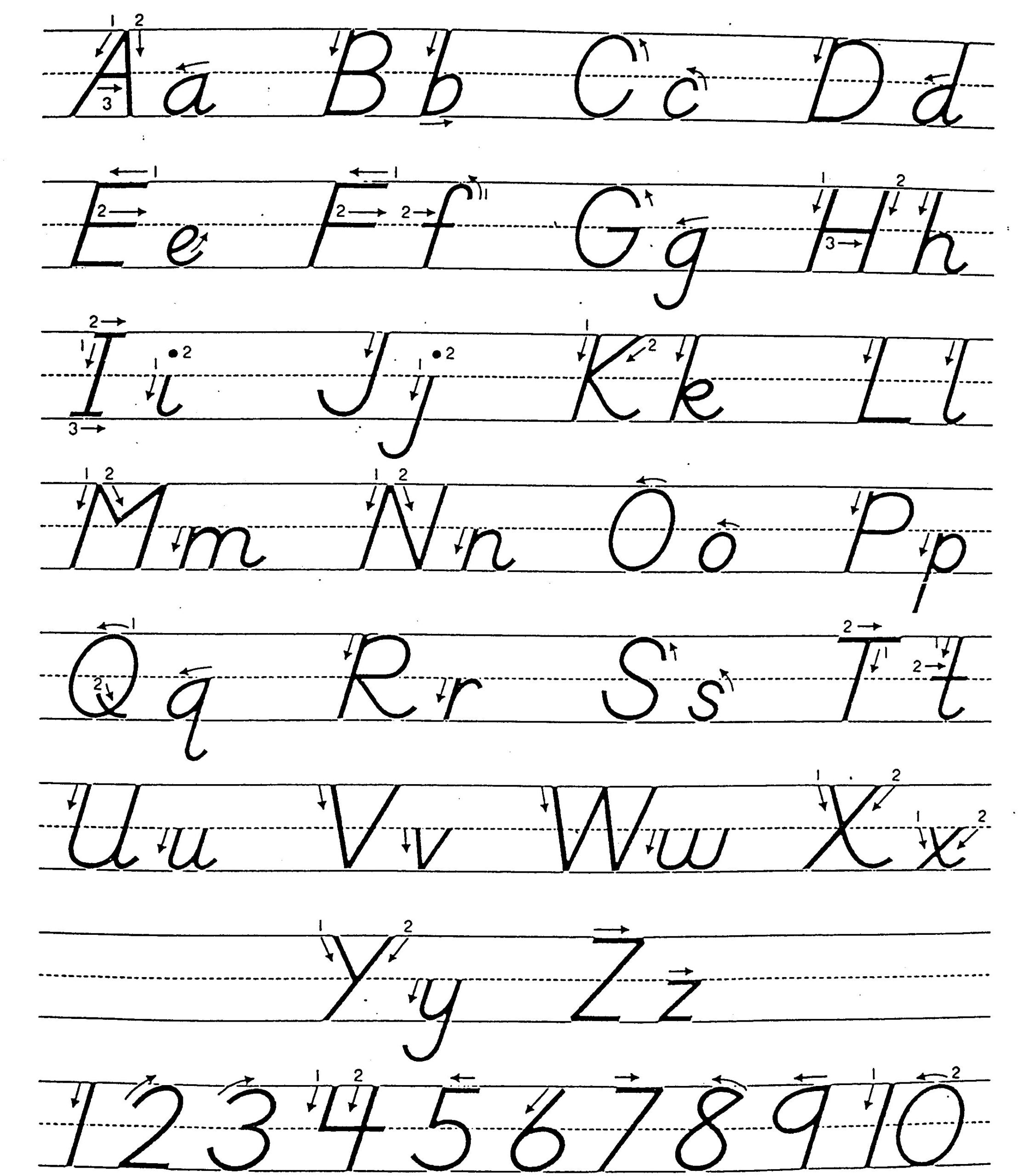 Free Cursive Letters A Z Pictures Misc Free Preschool