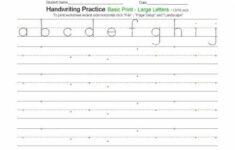 Free Customizable Handwriting Worksheets Elementary
