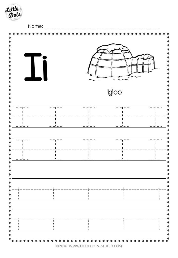 Free Letter I Tracing Worksheets