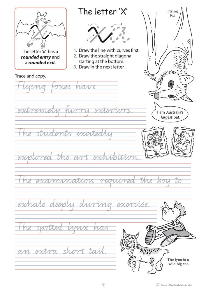 Handwriting Conventions QLD Year 4 Teachers 4