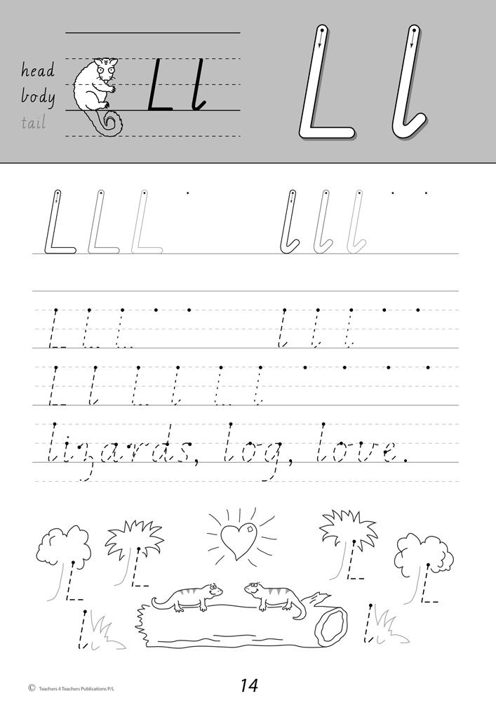 Handwriting Conventions VIC Year 1 Teachers 4