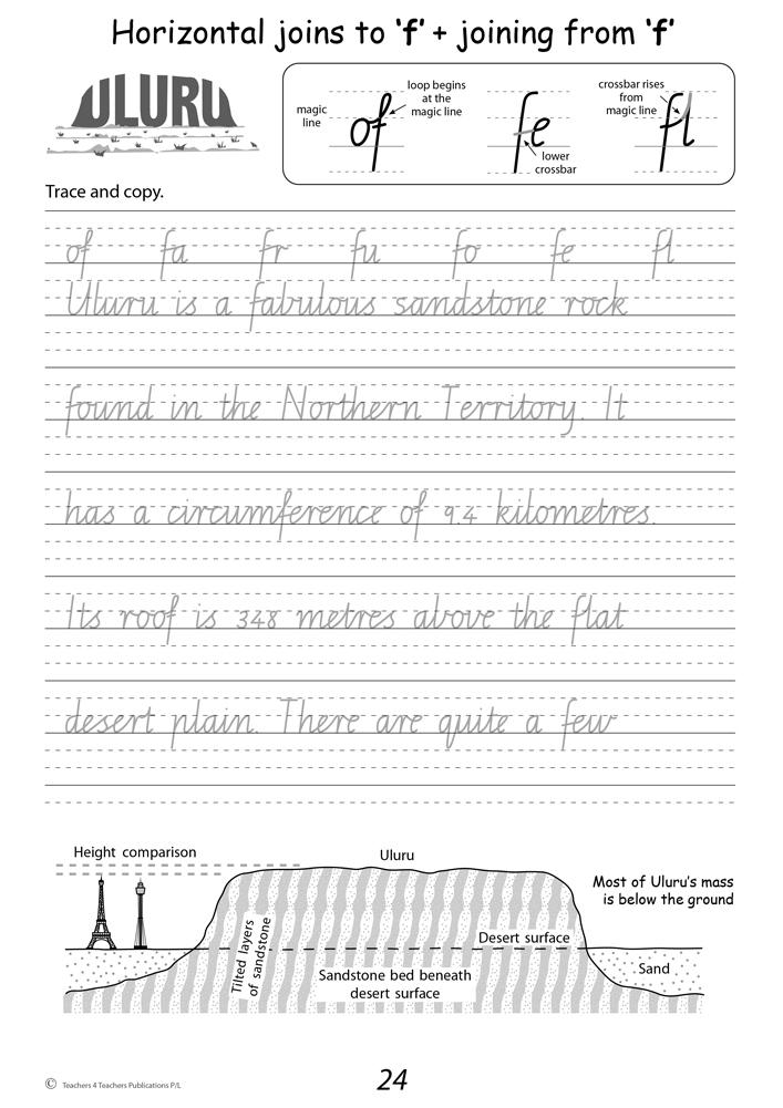 Handwriting Conventions VIC Year 4 Teachers 4