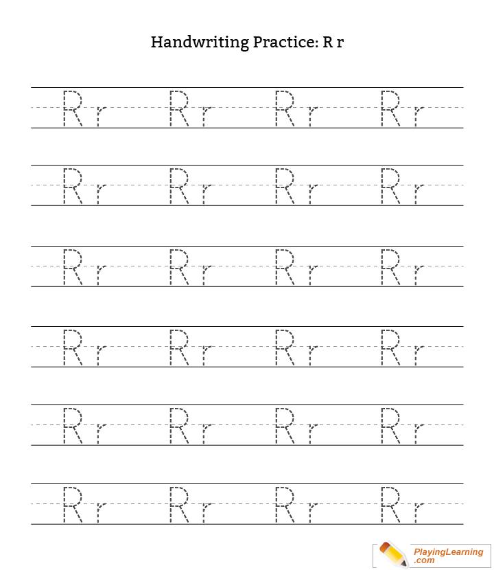 Handwriting Practice Letter R Free Handwriting Practice