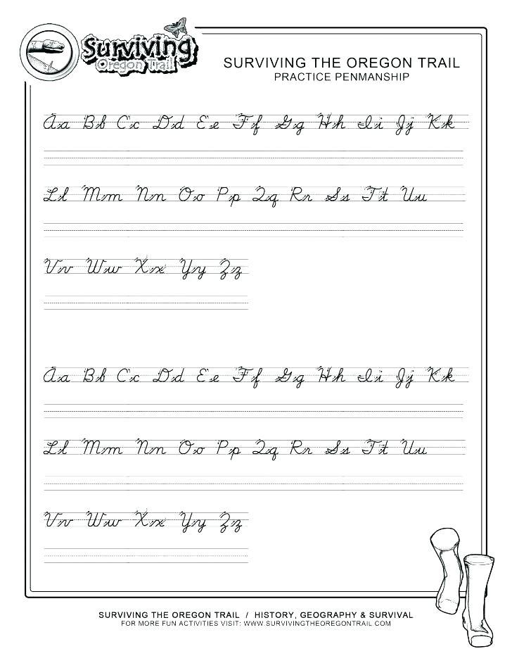 Handwriting Worksheet Custom