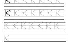 Letter K Handwriting Practice Worksheet Have Fun Teaching