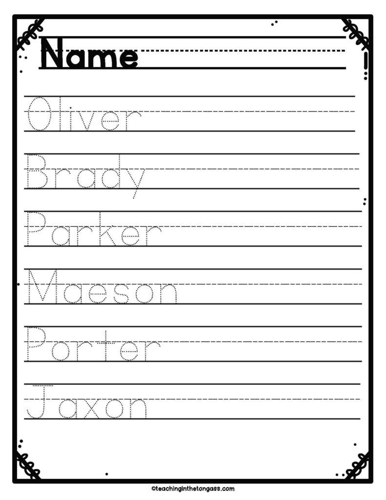 Print Cursive Handwriting Practice Worksheets Teaching