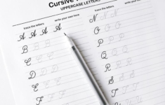 Printable Cursive Worksheets9 Pages Letters And Words For