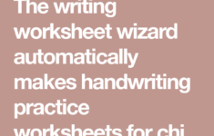 The Writing Worksheet Wizard Automatically Makes