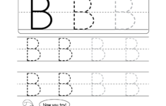 Uppercase Letter B Tracing Worksheet Doozy Moo