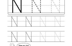 Uppercase Letter N Tracing Worksheet Doozy Moo