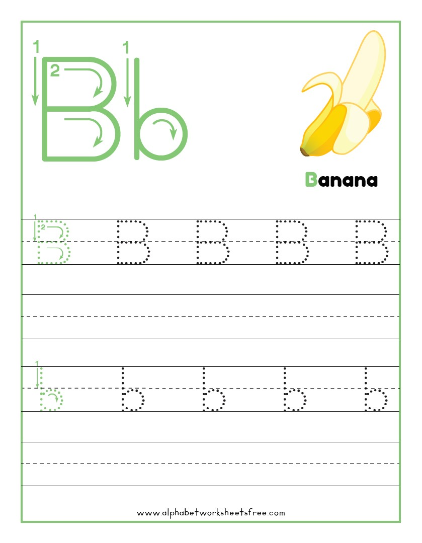 Tracing Letter B Worksheets