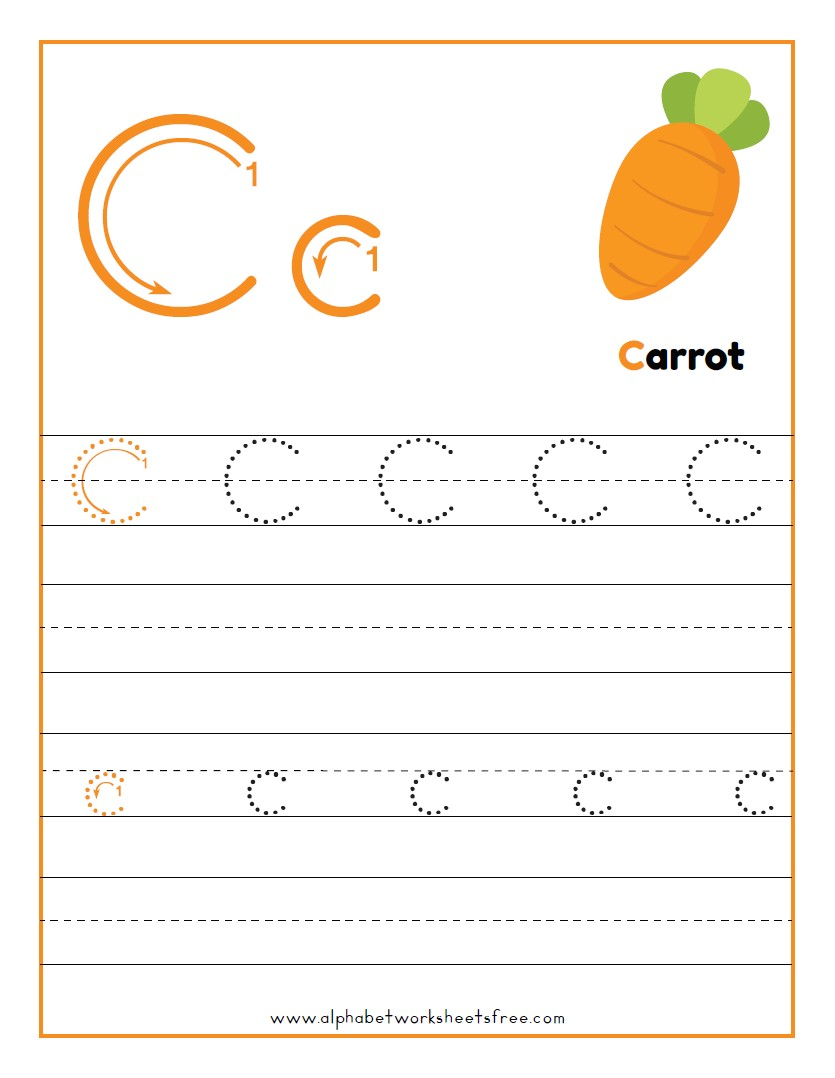 Tracing Letter C Worksheets