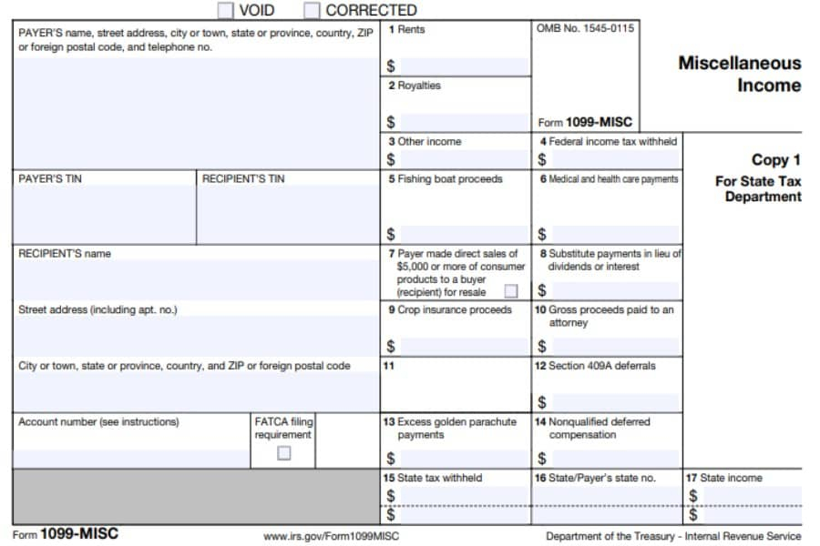 1099 MISC Form 2021 Printable