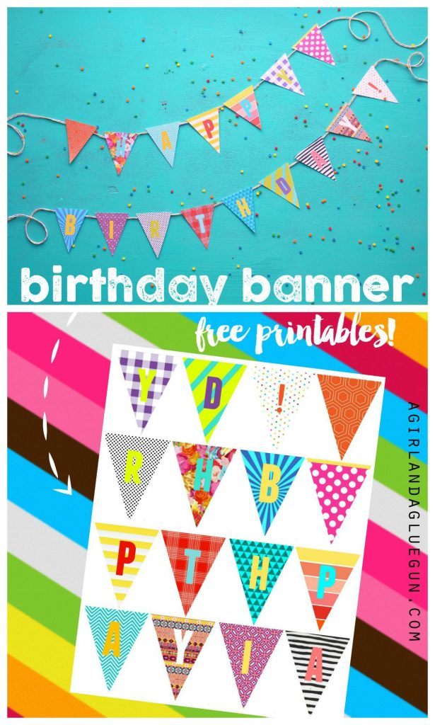 Birthday Banner Printables Diy Birthday Banner Happy